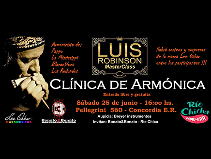 Clínica de armónica por Luis Robinson